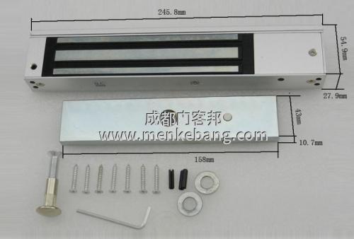 门禁磁力锁,磁力锁门禁锁,280公斤电磁锁单联双联磁力锁123